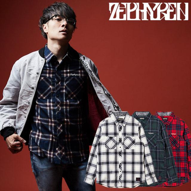ZEPHYREN(ゼファレン) CHECK SHIRT L/S   【チェックシャツ 長袖】【Z19AD20】 【2020SPRING&SUMMER先行予約】【キャンセル不可】
