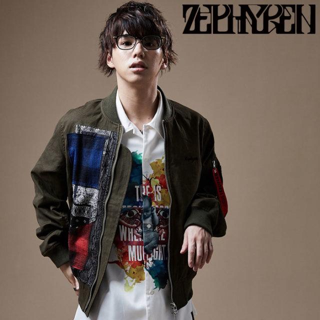 ZEPHYREN(ゼファレン) DAMEGE JKT 【フライトジャケット】【Z20PA03】 【2020SPRING&SUMMER先行予約】【キャンセル不可】