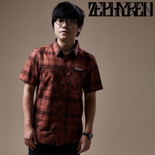 ZEPHYREN(ゼファレン) CHECK SHIRT S/S  【チェックシャツ】【Z20PC21】 【2020SPRING&SUMMER先行予約】【キャンセル不可】