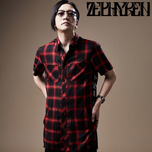 ZEPHYREN(ゼファレン) SWITCHING SHIRT S/S 【ロングシャツ】【Z20PC24】 【2020SPRING&SUMMER先行予約】【キャンセル不可】