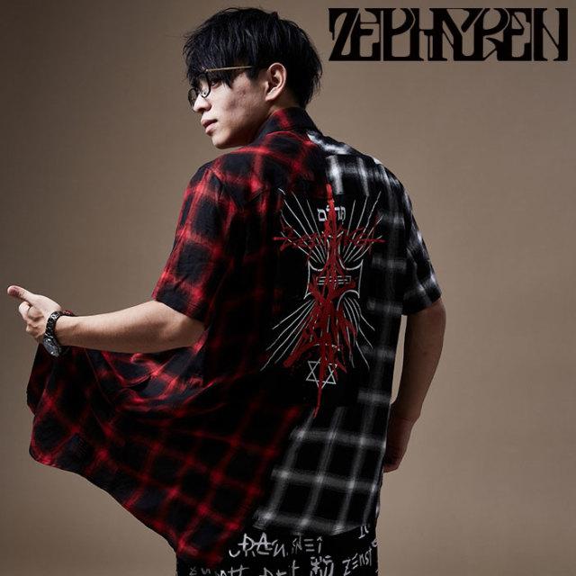 ZEPHYREN(ゼファレン) SWITCHING SHIRT S/S 【チェックシャツ】【Z20PC26】 【2020SPRING&SUMMER先行予約】【キャンセル不可】