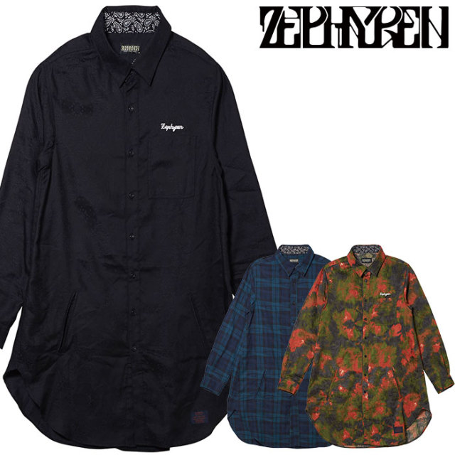 ZEPHYREN(ゼファレン) LONG SHIRT L/S   【ロングシャツ 長袖】【Z20PD10】 【2020SPRING&SUMMER先行予約】【キャンセル不可】