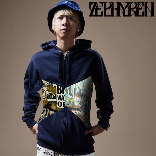 ZEPHYREN(ゼファレン) RAKUGAKI PARKA 【パーカー】【Z20PF15】 【2020SPRING&SUMMER先行予約】【キャンセル不可】
