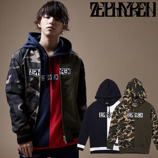 ZEPHYREN(ゼファレン) SWITCHING PARKA 【スウェット パーカー】【Z20PF16】 【2020SPRING&SUMMER新作】【送料無料】
