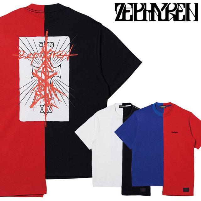 ZEPHYREN(ゼファレン) SWITCHING TEE S/S 【Tシャツ】【Z20PH27】 【2020SPRING&SUMMER先行予約】【キャンセル不可】