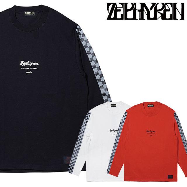 ZEPHYREN(ゼファレン) CHECKERED FLAG TEE L/S 【ロングスリーブTシャツ】【Z20PI18】 【2020SPRING&SUMMER先行予約】【キャンセ