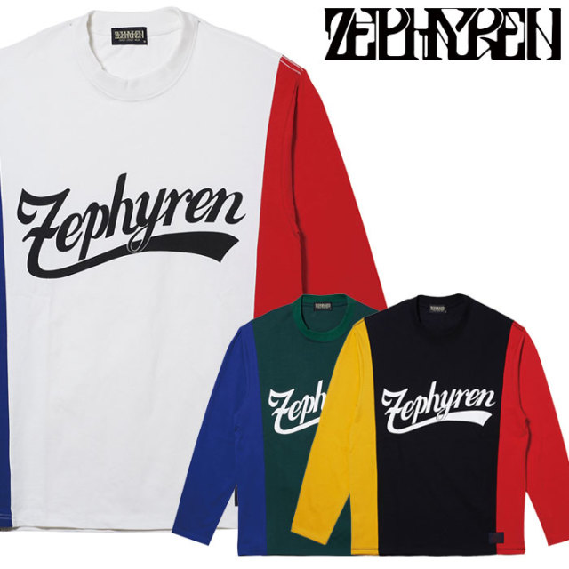 ZEPHYREN(ゼファレン) SWITCHING TEE L/S 【ロングスリーブTシャツ】【Z20PI20】 【2020SPRING&SUMMER先行予約】【キャンセル不可