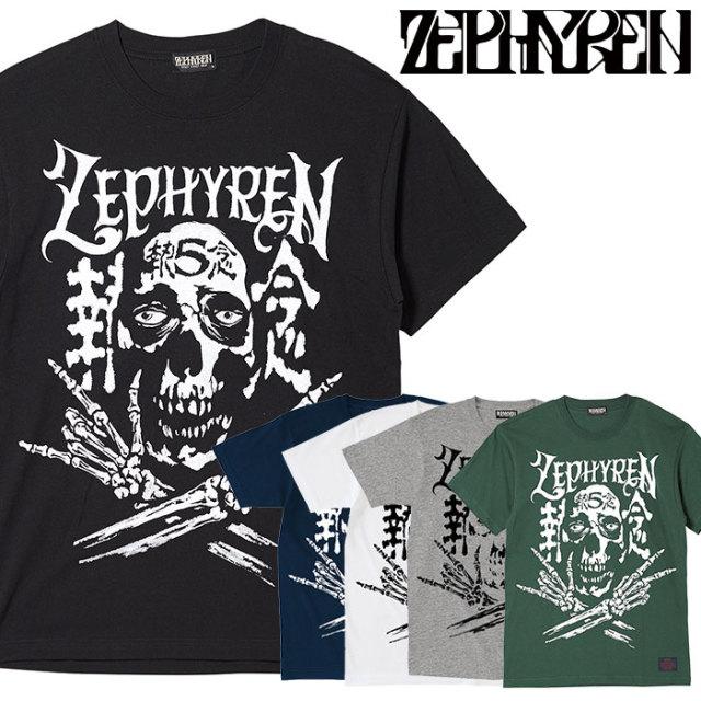 ZEPHYREN(ゼファレン) S/S TEE - SKULL HEAD5執念 - 【Tシャツ】【Z20PL45】 【2020SPRING&SUMMER先行予約】【キャンセル不可】