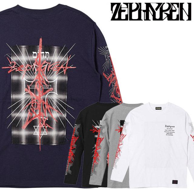 ZEPHYREN(ゼファレン) L/S TEE - Gott Ist Todt - 【ロングスリーブTシャツ】【Z20PM41】 【2020SPRING&SUMMER先行予約】【キャン