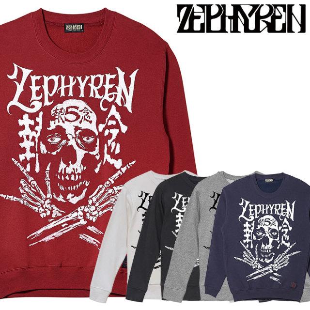 ZEPHYREN(ゼファレン) SWEAT - SKULL HEAD5執念/Un Espuela De Hueso - 【クルーネックスウェット】【Z20PO37】 【2020SPRING&SUM