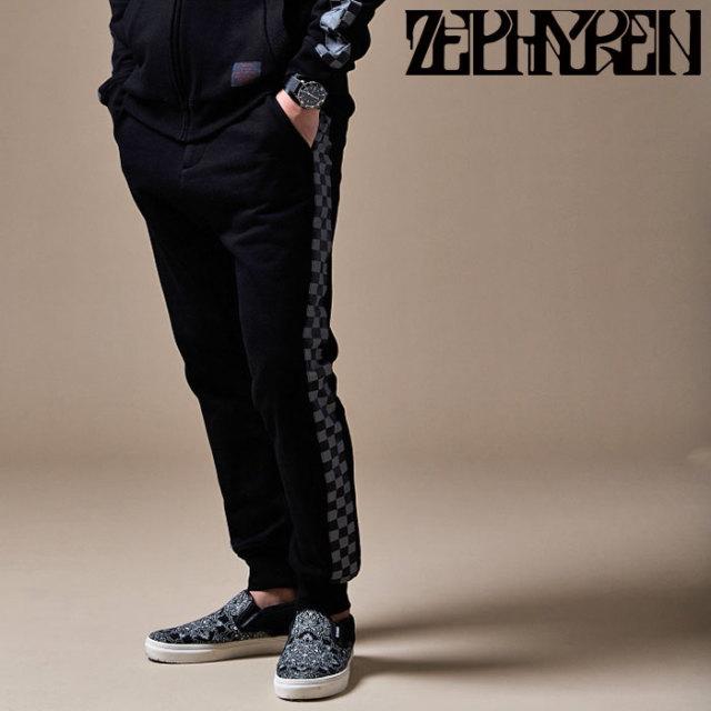 ZEPHYREN(ゼファレン) CHECKERED FLAG PANTS 【スウェットパンツ】【Z20PP51】 【2020SPRING&SUMMER先行予約】【キャンセル不可】