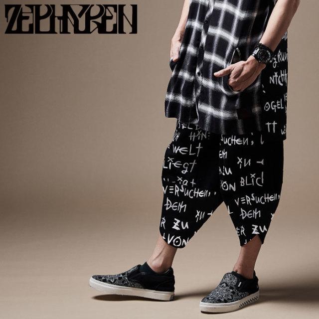 ZEPHYREN(ゼファレン) DEFORMATION PANTS 【8分丈パンツ】【Z20PP53】 【2020SPRING&SUMMER先行予約】【キャンセル不可】