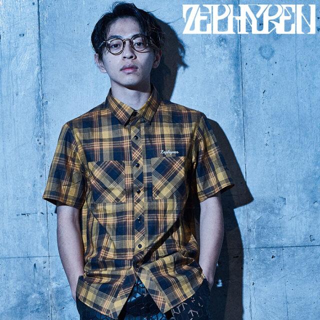 ZEPHYREN(ゼファレン) CHECK SHIRT S/S - Resolve - 【チェックシャツ 半袖】【Z21UD05】【2021SUMMER先行予約】【キャンセル不可