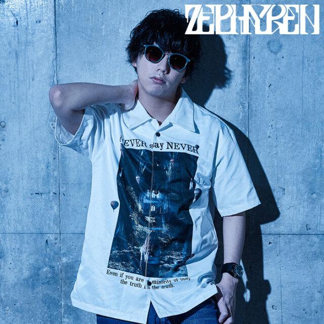 ZEPHYREN(ゼファレン) PHOTO PRINT SHIRT S/S - NEVER say NEVER - 【シャツ 半袖】【Z21UD09】【2021SUMMER先行予約】【キャンセ