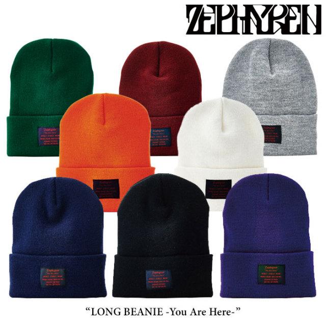 ZEPHYREN(ゼファレン) LONG BEANIE -You Are Here- 【2017AUTUMN/WINTER先行予約】 【キャンセル不可】 【Z16UU01】
