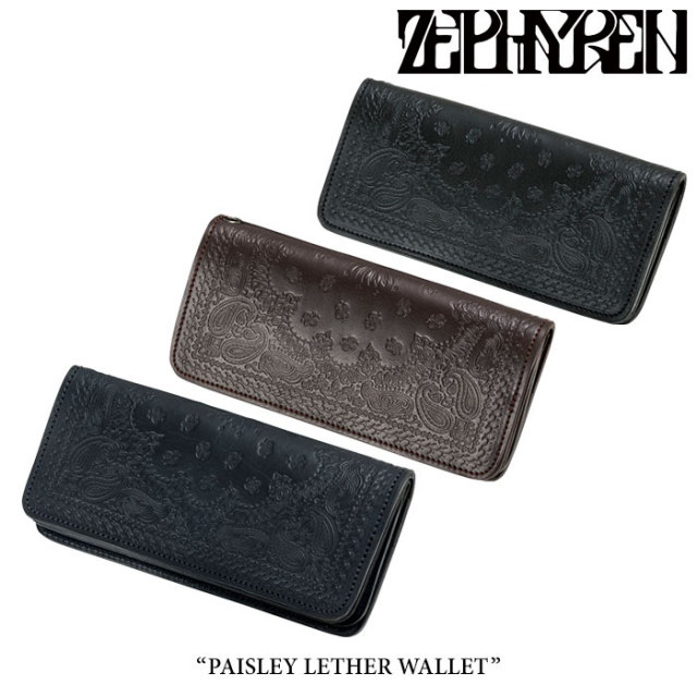ZEPHYREN(ゼファレン) PAISLEY LETHER WALLET 【2018SUMMER先行予約】 【送料無料】【キャンセル不可】 【Z16UX01】