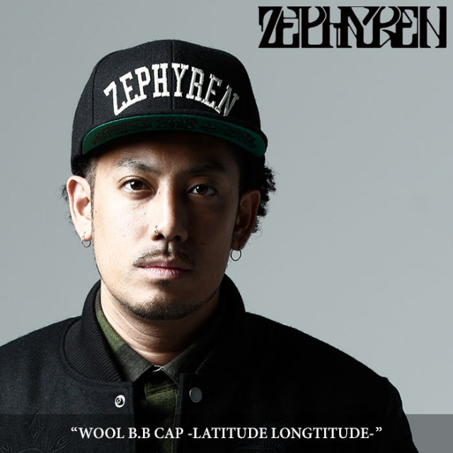 ZEPHYREN(ゼファレン) WOOL B.B CAP -LATITUDE LONGTITUDE- 【2017AUTUMN/WINTER先行予約】 【キャンセル不可】 【Z17AS01】