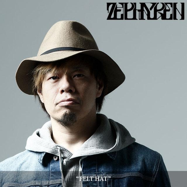 ZEPHYREN(ゼファレン) FELT HAT 【2017AUTUMN/WINTER先行予約】 【キャンセル不可】 【Z17AT02】