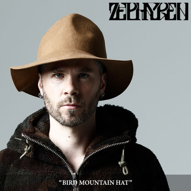 ZEPHYREN(ゼファレン) BIRD MOUNTAIN HAT 【2017AUTUMN/WINTER先行予約】 【キャンセル不可】 【Z17AT03】