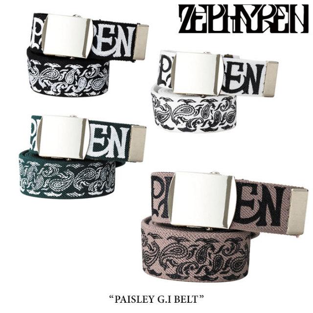 ZEPHYREN(ゼファレン) PAISLEY G.I BELT 【2018SUMMER先行予約】 【キャンセル不可】 【Z17AW01】