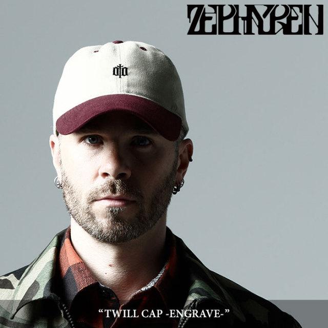ZEPHYREN(ゼファレン) TWILL CAP -ENGRAVE- 【2017AUTUMN/WINTER先行予約】 【キャンセル不可】 【Z17PS01】