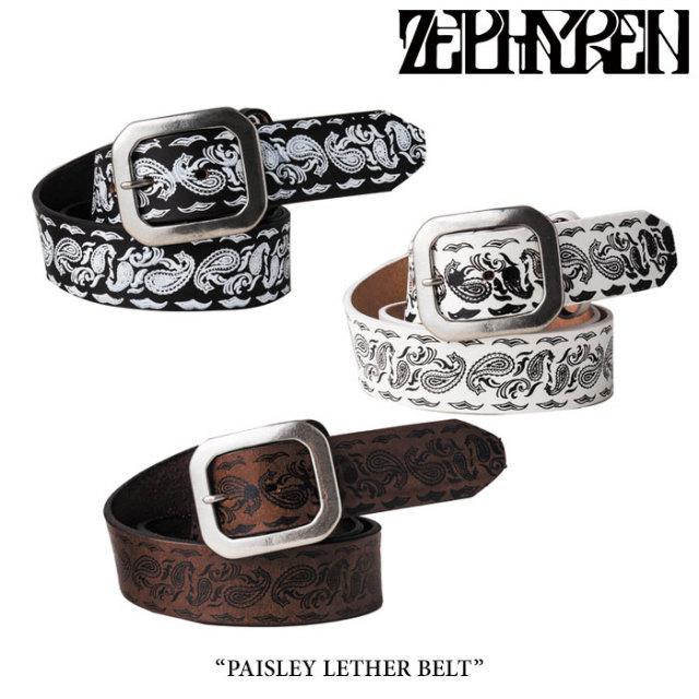 ZEPHYREN(ゼファレン) PAISLEY LETHER BELT 【2018SUMMER先行予約】 【送料無料】【キャンセル不可】 【Z17PW05】