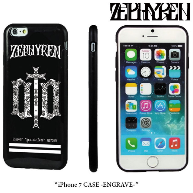 ZEPHYREN(ゼファレン) iPhone 7 CASE -ENGRAVE-  【2017AUTUMN/WINTER先行予約】 【キャンセル不可】 【Z17PX05】