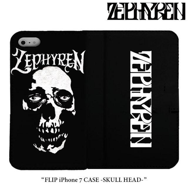 ZEPHYREN(ゼファレン) FLIP iPhone 7 CASE -SKULL HEAD- 【2017AUTUMN/WINTER先行予約】 【キャンセル不可】 【Z17PX06】