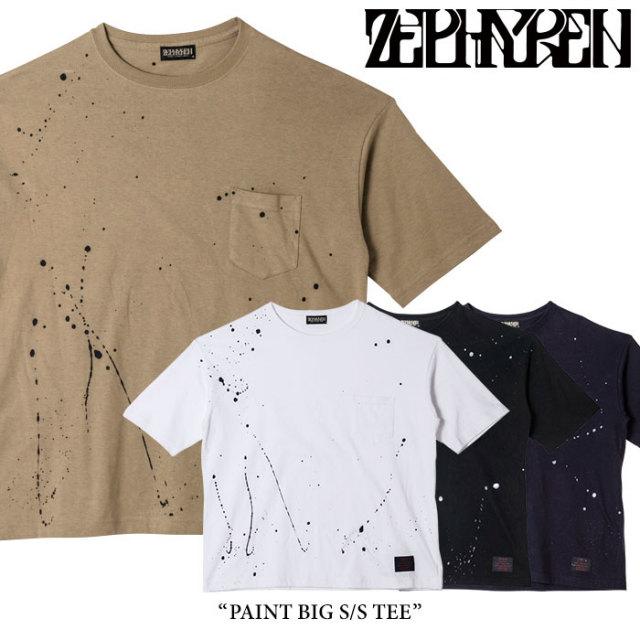 ZEPHYREN(ゼファレン) PAINT BIG S/S TEE 【2018SPRING/SUMMER先行予約】 【キャンセル不可】 【Z18PL09】