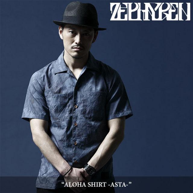 ZEPHYREN(ゼファレン) ALOHA SHIRT -ASTA- 【2018SUMMER先行予約】 【キャンセル不可】 【Z18UC14】