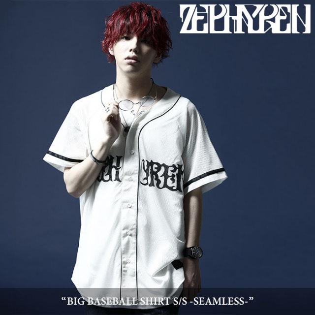 【SALE】ZEPHYREN(ゼファレン) メンズ シャツ ロゴ ベースボールシャツ【Z18UC16】[S M L XL][ブラック ホワイト 黒 白] 半袖 ペイズ
