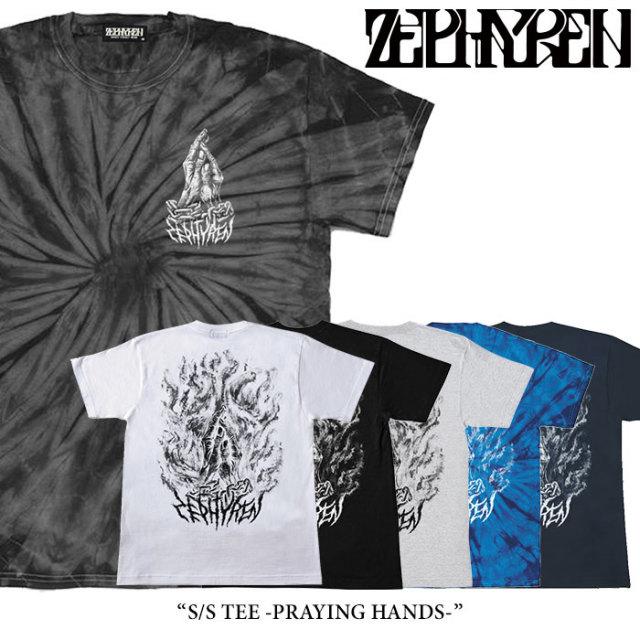 ZEPHYREN(ゼファレン) S/S TEE -PRAYING HANDS- 【2018SUMMER先行予約】 【キャンセル不可】 【Z18UL24】