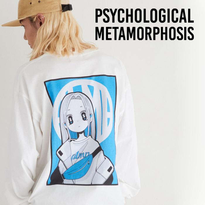 PSYCHOLOGICAL METAMORPHOSIS PLMP×Gurin. LS TEE 01 【ロングスリーブTシャツ】【即発送可能】【PLMP ピーエルエムピー】【サイコ