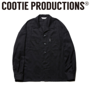 COOTIE(クーティー)  Bandana Jacquard Open-Neck L/S Shirt 【CTE-19S413】 【オープンネックシャツ】