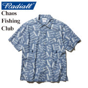 RADIALL(ラディアル)×CHAOS FISHING CLUB(カオス フィッシングクラブ) BLUE HOURS-OPEN COLLARED SHIRT S/S 【2019 SPRING&SUMMER