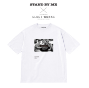 CLUCT(クラクト) DROP SHOULDER S/S【CLUCT×STAND BY ME】 【2019HOLIDAY新作】【#04007】【Tシャツ】【プリント おしゃれ 白 ホワ