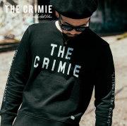 CRIMIE(クライミー) メンズ ロゴ スウェット パーカー クルーネック コットン100% [S M L LL XL][ブラック ネイビー 黒 紺]【C1H5-SW