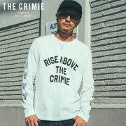 CRIMIE(クライミー) RISE ABOVE LONG T-SHIRT 【ロングスリーブTシャツ】【ブラック ホワイト アメカジ ミリタリー】【シンプル お