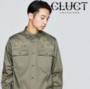 CLUCT(クラクト) L/S EMB SHIRT 【2018HOLIDAY新作】 【シャツ 刺繍】【#02888】