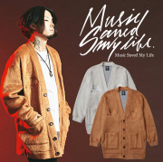 MSML(MUSIC SAVED MY LIFE) PANTHER EMBROIDERY LONG CARDIGAN 【2018-19WINTER新作】【即発送可能】 【M1H5K-KN01】【カーディガ