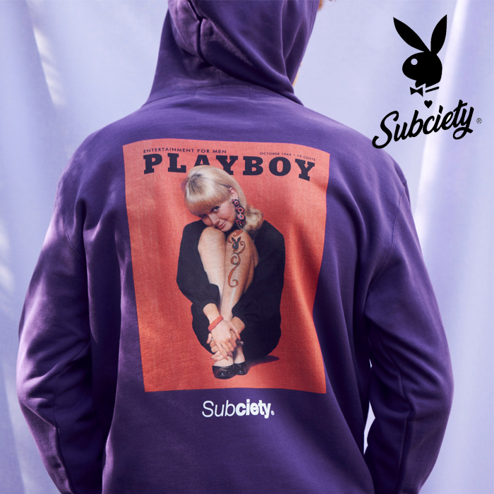 PLAYBOY×SUBCIETY(サブサエティ) PARKA-COVERGIRL- 【先行予約】【キャンセル不可】 【105-31151】【パーカー】 【プレイボーイ