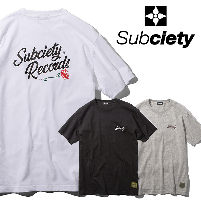 SUBCIETY(サブサエティ) VINYL S/S 【2019SUMMER新作】 【109-40405】【Tシャツ】