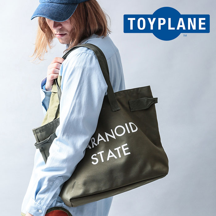 TOYPLANE(トイプレーン) PARANOID TOTE BAG 【2019 LATE FALL&WINTER先行予約】【キャンセル不可】 【TP19-FAC03】【トートバッグ