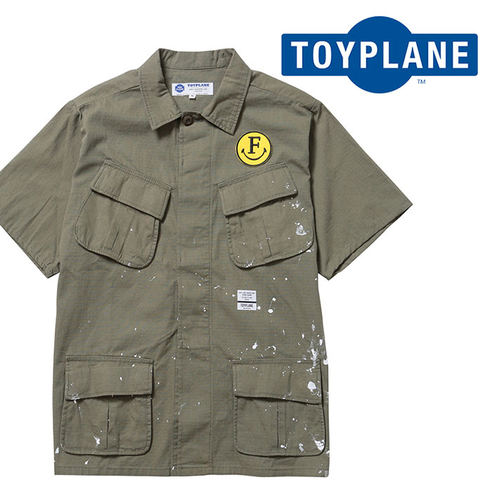 TOYPLANE(トイプレーン) S/S PEACE SHIRT JACKET 【ショートスリーブシャツ】【2020 1st 先行予約】【TP20-HSH05】【キャンセル不