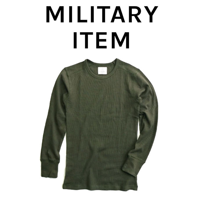 OUTPUT MilitaryApparel Cold weather thermal shirts Long sleeve Crew neck 【ミリタリー サーマル】【キャンセル 返品 交換不可