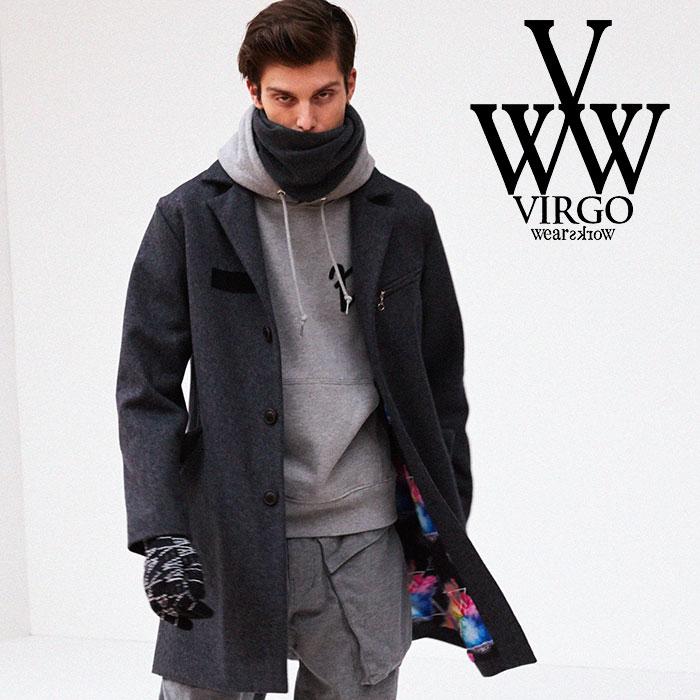 【SALE30%OFF】 VIRGO(ヴァルゴ) BRITISH WOOL COAT 【2018FALL/WINTER新作】 【VG-JKT-193】【ウール コート】