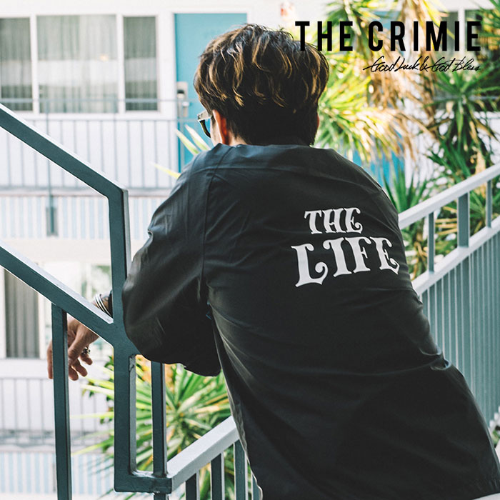 CRIMIE(クライミー) COACHES THE LIFE JACKET 【2019SPRING/SUMMER新作】 【C1K1-JK23】【コーチジャケット】