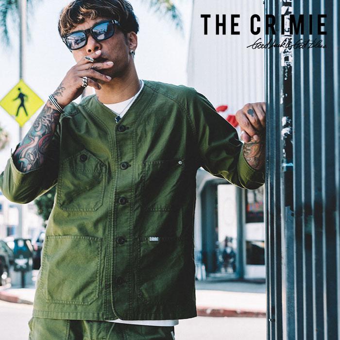 【SALE30%OFF】 CRIMIE(クライミー) JOE MILITARY 7th SLEEVE SHIRT 【2019SPRING/SUMMER新作】【送料無料】 【C1K1-SH11】【ミ