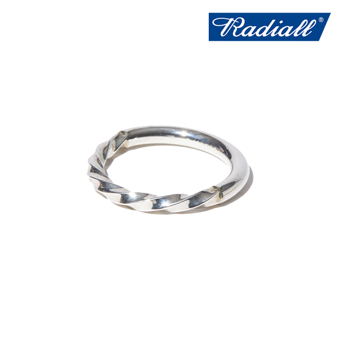 RADIALL (ラディアル)  TWIST NARROW - PINKY RING  【ピンキーリング 指輪】【2021 AUTUMN&WINTER COLLECTION】【RAD-JWL029-01】