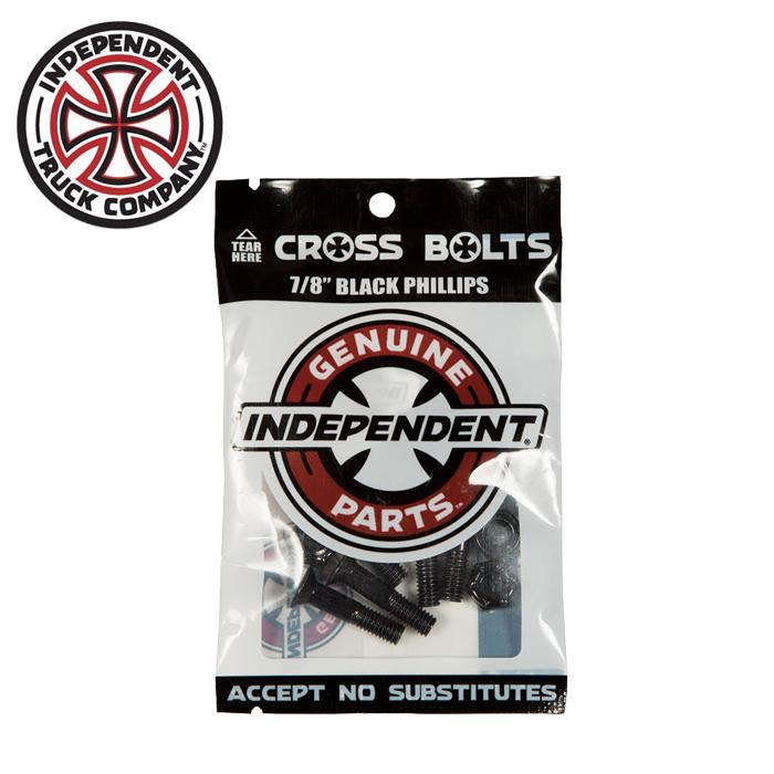 Independent Trucks (インディペンデント) CROSS BOLTS 7/8 BLACK PHILLIPS 【インディペンデント】【スケートボード 】【スケボー